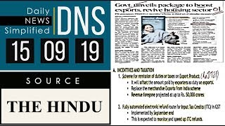 Download Daily News Simplified 15-09-19 (The Hindu Newspaper - Current Affairs - Analysis for UPSC/IAS Exam) Video