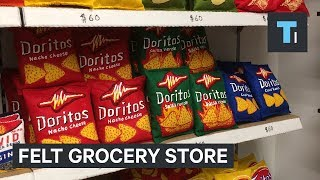 Download Artist Spent 6 Months Creating A Fake Grocery Store Completely Made Of Felt Video