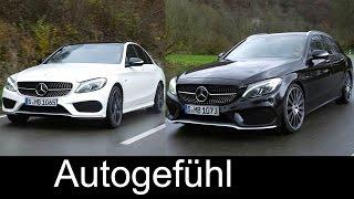 Download All-new Mercedes C-Class C450 AMG sedan vs estate driving shots exterior interio - Autogefühl Video
