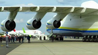 Download ANTONOV AN-225 - CLOSE UP PUSHBACK of WORLDS LARGEST AIRCRAFT at ILA 2018 Air Show! Video