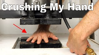 Download Crushing My Own Hand In a Hydraulic Press—Crazy Experiment on My Brain Video