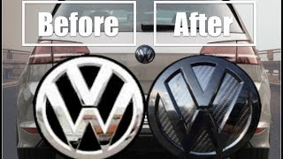 Download (DIY) VW Badge Install & Carbon Fiber Inlay Video