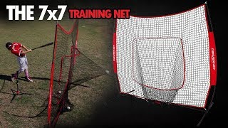 Download PowerNet Baseball and Softball Practice Net 7 x 7 with bow frame Video