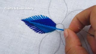 Download Hand Embroidery, Modern Flower Embroidery, Easy Flower Design Video