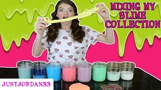 Download SLIME SMOOTHIE ~ MIXING ALL OF MY SLIME ~ JustJordan33 Video
