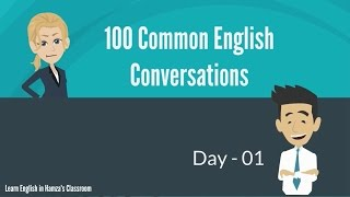 Download 100 Common English Conversations - (PART - 01) - Day 01 - 10 Video