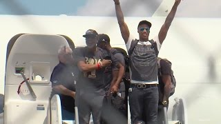 Download Cavs return home after championship win Video