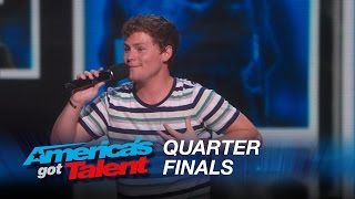 Download Drew Lynch: Stuttering Comedian Jokes About His Service Dog - America's Got Talent 2015 Video