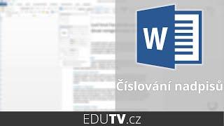 Download Číslování nadpisů ve Wordu | EduTV Video