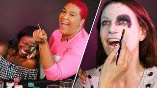 Download Drunk Halloween Makeup Challenge Video