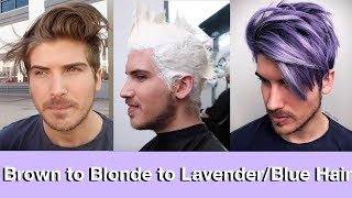 Download Brown to Blonde to Blue/Lavender Hair Transformation Video