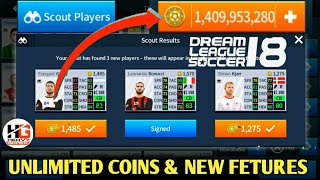 Download New Update    New Features    Unlimited Coins    Dream League Soccer 2018 V5.05 Video
