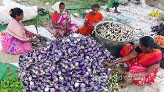 Download Amazing Cooking Baingan Masala Recipe (Brinjal Curry) Prepared 1500 People Hindu Function Video