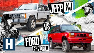 Download Build & Battle: Jeep XJ vs Ford Explorer, Which Truck Will Be the Best Offroad Racer? (EP.1) Video