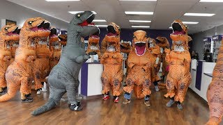 Download Walking Into Random Stores With 100 Dinosaurs Video