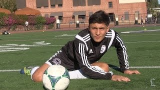 Download Axel Mendez is soccer standout at L.A. Cathedral Video