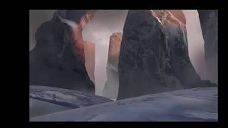 Download DIGITAL MATTE PAINTING   SNOW MOUNTAIN   SPEED ART Video
