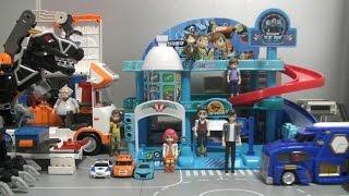 Download 또봇 주차장 장난감 놀이 터닝메카드 파워레인저 다이노포스 Tobot Parking Toys Play Power Rangers Dino Charge Video