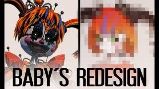 Download Speedpaint - SCRAP BABY REDESIGN (FNAF Fanart) Video