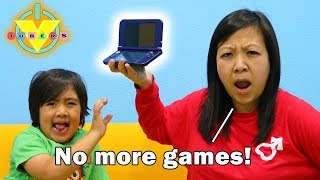 Download MOM STOLE MY VIDEO GAMES ! Let's Play !? Ryan's Mommy hides video games from Ryan & Daddy! Video