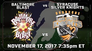 Download Baltimore Blast vs Syracuse Silver Knights Video