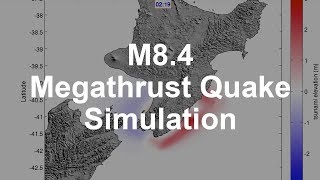 Download Simulation of a Magnitude 8.4 Megathrust Quake in New Zealand Video