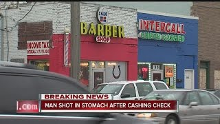 Download Man shot in stomach after cashing check in Indianapolis Video