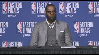 Download LeBron James Postgame Interview | Shows Off Memory From ECF Game 1 Video