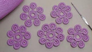 Download Урок вязания.Как связать цветок крючком с лепестками из гусенички. Irish lace. Video
