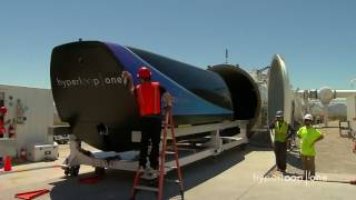 Download First Public Footage of Hyperloop One's Pod Test Video