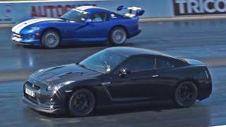 Download Nissan GT-R vs Dodge Viper Drag Race Video
