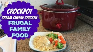 Download Crockpot Cream Cheese Chicken   Frugal Family Food Video