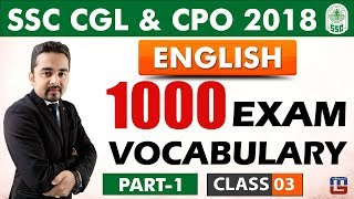 Download 1000 Exam Vocabulary   Part 1   Class 3   English   SSC CGL   CPO 2018 Video