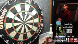 Download Rattlesnake vs Cornish Rattler -WDA Darts RATTLE BATTLE :) Video