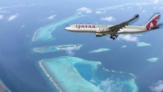 Download Qatar Airways Landing in Maldives Video