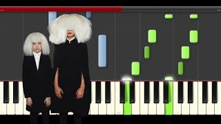 Download Sia Angel By the Wings piano midi tutorial sheet partitura cover app karaoke Video