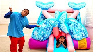 Download Wendy Pretend Play with Giant Mermaid Bounce PlayHouse Video
