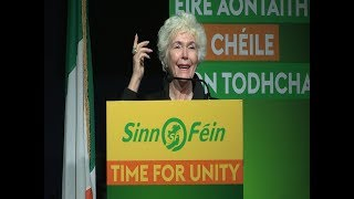 Download Fionnula Flanagan world famous Irish actress helps launch Sinn Féin election campaign Video