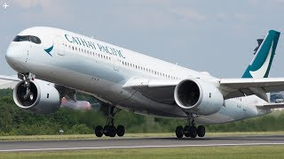 Download Planespotting at Manchester Airport- Up Close Afternoon Departures Runway 23L Video