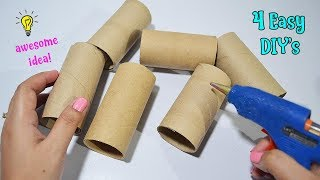 Download 4 Ways To ReUse/Recycle Empty Tissue Roll| Best Out of Waste Video
