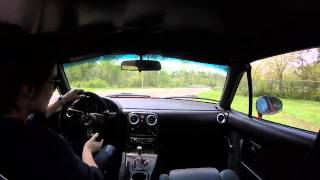 Download NA Miata chasing NB Miata on Black Snake Rd Video