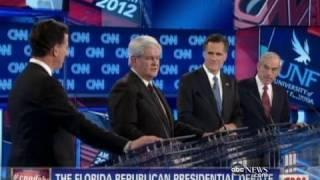Download Newt Gingrich and Mitt Romney Trade Jabs at GOP Debate Video
