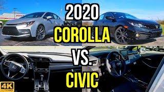 Download SMALL SEDAN SHOOTOUT - 2020 Toyota Corolla SE vs. Honda Civic Sport: Comparison Video