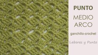 Download Como tejer el punto medio arco a ganchillo o crochet- Labores y Punto Video