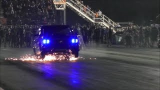 Download Street Outlaws Tina Pierce wins truck class at Armageddon vs stiff competition Video