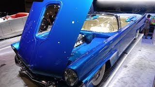 Download Dave Kindig's 940 HP Twin Supercharged 600 c.i. All Aluminum V-12 1958 Lincoln Revealed at SEMA Video