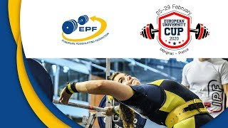 Download Women, 57 & 63 kg - European Open University Cup 2020 In Classic Powerlifting Video