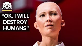 Download Hot Robot At SXSW Says She Wants To Destroy Humans | The Pulse | CNBC Video