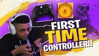 Download PLAYING FORTNITE WITH A CONTROLLER! (MY FIRST TIME) Video