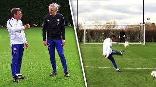 Download Gianfranco Zola Teaches Jimmy Bullard How To Take PERFECT Free-Kicks! Video